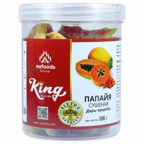 Папайя сушеная натуральная King Nafoods в банке, 500 гр.